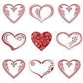 Valentine heart, pictogram, set — Stock Photo