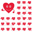 Royalty-Free Stock Photo: Valentine hearts, smileys, set