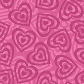 Seamless background, Valentine hearts — Stock Photo
