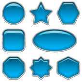 Blue glass buttons, set — Стоковое фото