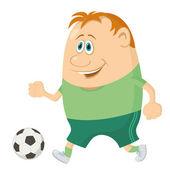 футбол с мячом — Стоковое фото