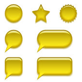 Yellow glass buttons, set — Stock Photo