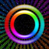 Rainbow ring, background — Stock Vector