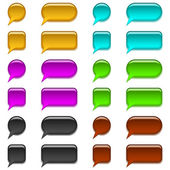Glas-buttons, satz — Stockvektor