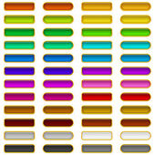 Glass buttons of various colors, set — Stock Vector