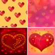 Valentine background, set — Stock Photo