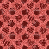 Valentine seamless abstract background — Stock Photo
