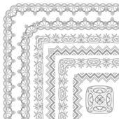 抽象的なパターン フレーム、輪郭 — ストックベクタ