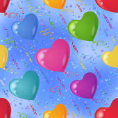 Background with balloon hearts in sky — Stock Photo