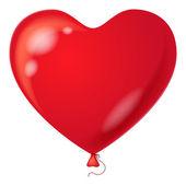 Red balloon, heart shaped — Stock Photo