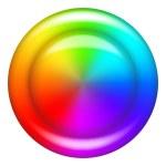Rainbow button circle — Stock Photo