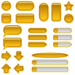 Gold glass buttons, set — Stockfoto