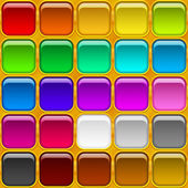 Square buttons, seamless — Stock Vector
