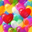 Balloons hearts background seamless — Stock Photo