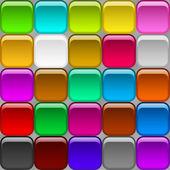 Botões quadrados, sem costura — Foto Stock