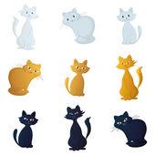 Kediler, ayarla — Stok fotoğraf