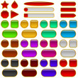 Glass buttons of various colors, set — Stock Photo