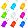 Color tags with ropes, set — Stock Photo #23133718