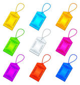 Color tags with ropes, set — Stock Photo