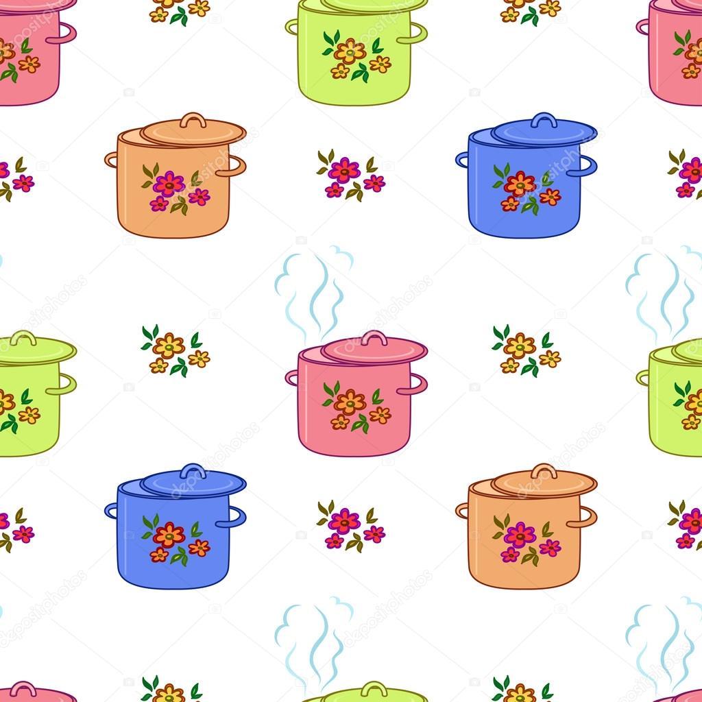 #133AB8 Plano de fundo sem emenda panela de cozinha – Ilustração de Stock 1024x1024 px Planos De Cozinha_160 Imagens