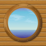 Sea in a ship window — Stock Photo