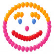 Smiley of balloons — Stock Photo