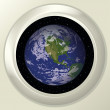 Stock Photo: Earth and space in window