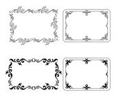 Abstract frames, set — Stock Vector