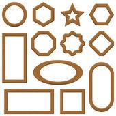 Wooden frames, set — Stock Vector
