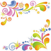 Abstract flourish colorful background — Stock Vector