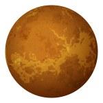 Planet Venus, isolated on white — Stock Photo #26973143