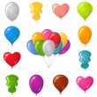 Stock Photo: Festive balloons, set