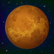 Planet Venus in space — Stock Photo