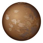 惑星火星、白で隔離されます。 — ストックベクタ