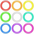Color rings, set — Stock Vector