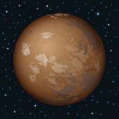 空間で惑星火星 — ストックベクタ