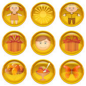 Buttons set, childhood — Stock Photo