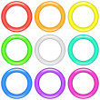 Color rings, set — Stock Photo