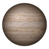 Planet Jupiter, isolated on white — Stock Vector