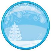 Christmas background, button — Stock Photo
