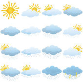 Set hava durumu simgeleri — Stok Vektör