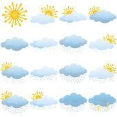 Set weerpictogrammen — Stockvector