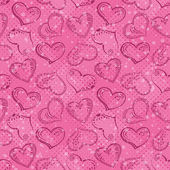 Seamless background, Valentine hearts — Stock Vector