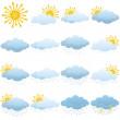 Set weather icons — Stock Photo #32289459