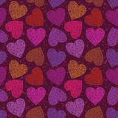 Valentine heart, seamless — Stock Vector