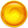Golden button with pattern — Stock Photo