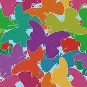 Seamless background, butterflies — Vecteur