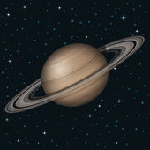 Planet Saturn in space — Stockvektor