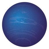 Planet Neptune, isolated on white — Stock Vector