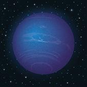Planet Neptune in space — Stock Vector